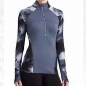 Athleta running wild half zip jacket